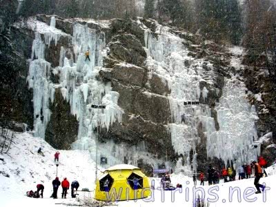 Ice climbing in the Italian Alps