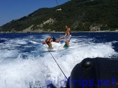 Wakeboarding in the Italian Riviera