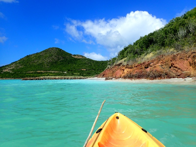 In kayak a Jolly Harbour, Antigua
