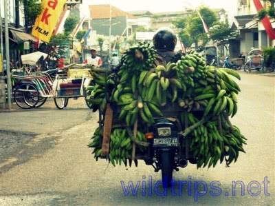 Motorcycle in the heavy traffic of Bali, Indonesia
