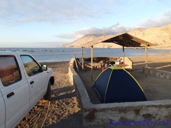 Camping in the Parque Pan de Azucar, Chile