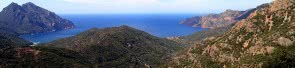 Coastline and woods of Corse