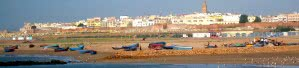 Rabat and Sale with fishing boats, Morocco