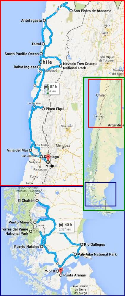 Best Of Chile And Patagonia Itineraries Photos And Trip Reports - Chile map argentina