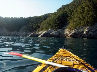 Kayak between Chiavari and Zoagli, Liguria