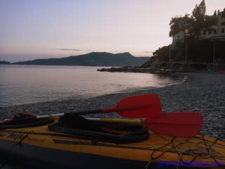 Kayak at Zoagli, Liguria