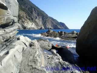 From Levanto to Monterosso by kayak, Liguria