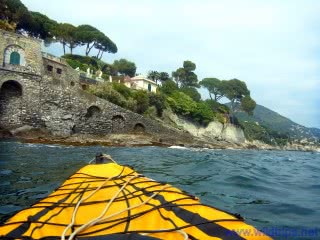 Kayak at Genoa Nervi, Liguria